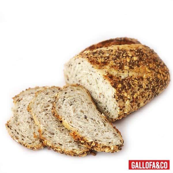 pan cereales rebanado