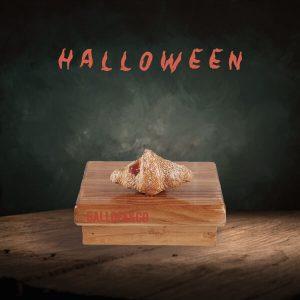 croissant mantequilla mini relleno fresa para Halloween